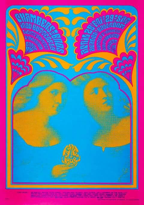 The Chambers Brothers and Iron Butterfly, 1967. Artist: Victor Moscoso.