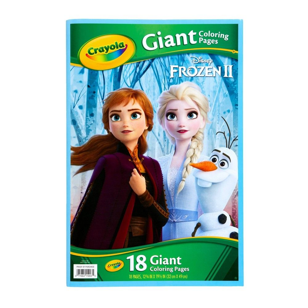 Crayola Giant Coloring Book Frozen 2 Crayola Disney Frozen Disney Frozen 2