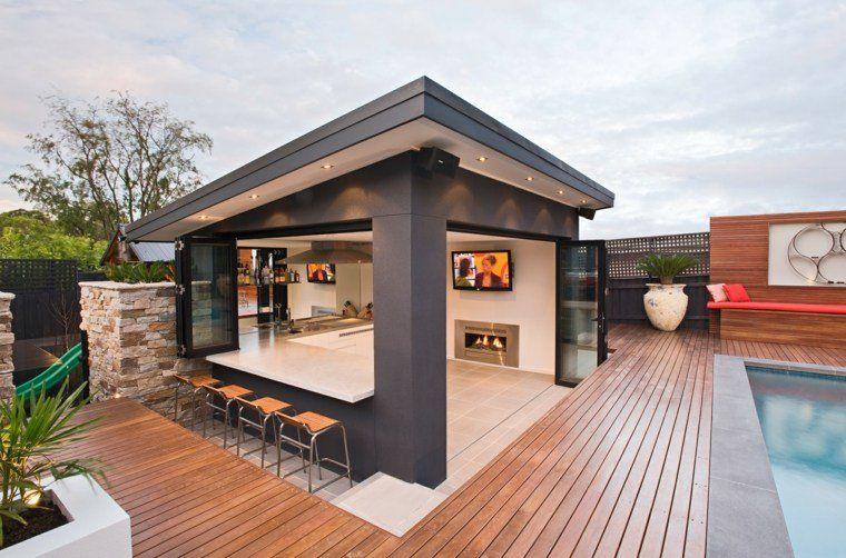 gaz bo et abri soleil des id es pour jardin avec piscine pool houses backyard and pergolas. Black Bedroom Furniture Sets. Home Design Ideas