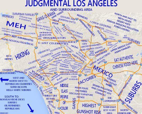 judgemental map of los angeles... - #judgemental #map #losangeles ...