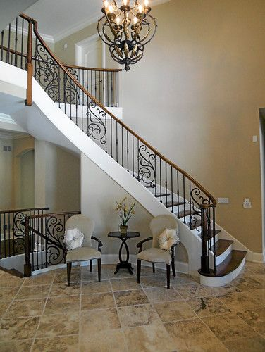 Best So Pretty Scrolling Wrought Iron Stairs Round Chairs 400 x 300