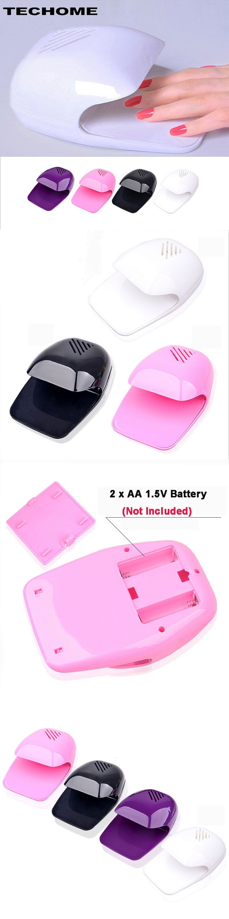 Portable Mini Uv Touch Type Nail Dryer Fan For Curing Nail Gel ...