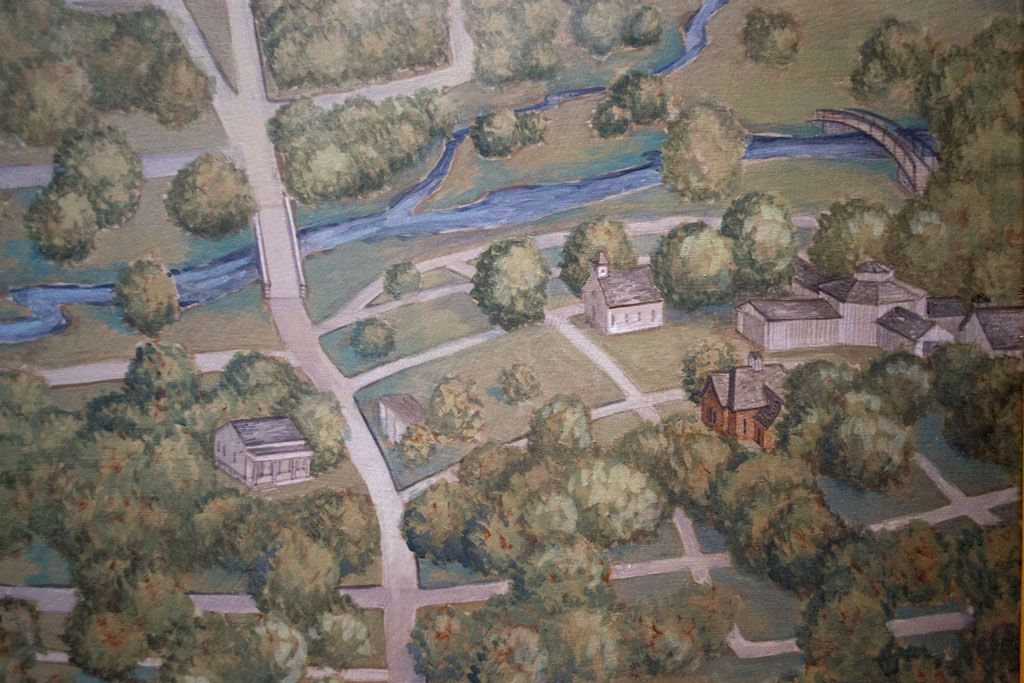 Historic Marshall Michigan --- Ketchem Park area detail from the Michael Peck map