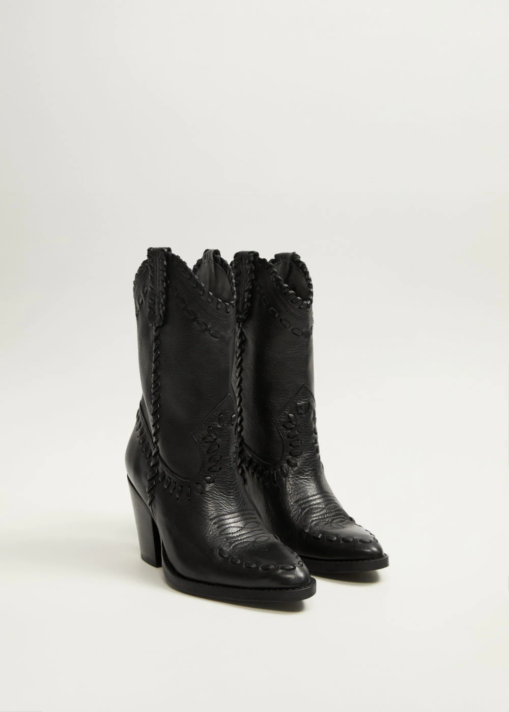 Skorzane Botki Cowboy Kobieta Mango Polska Womens Boots Ankle Boots Womens Boots