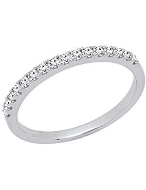 Diamond Wedding Band in 14K Yellow Gold G-H,I2-I3 1//10 cttw, Size-4.75