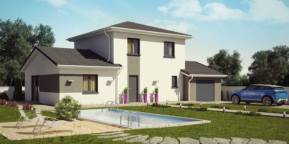 WALLIS MODERNE #construction #villa #demeure #etage #moderne #wallis