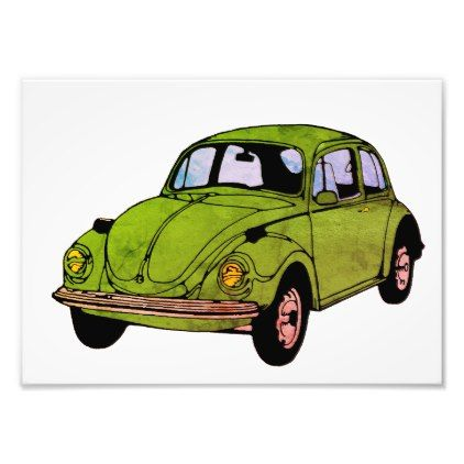 Hippie Car Drawing , Kodak Professional Print | Zazzle.com