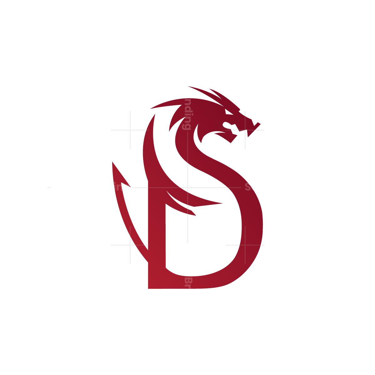 Letter D Dragon Logo Logo Dragon Lettering Logo Design