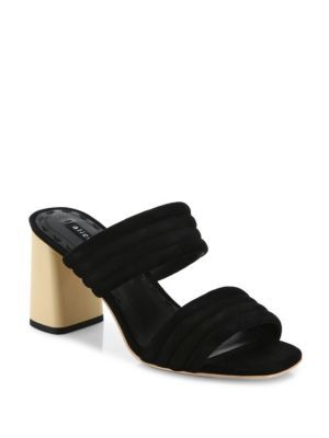 ALICE AND OLIVIA Colby Suede Block Heel Slide Sandals. #aliceandolivia # shoes #sandals