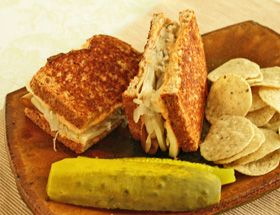 Veggie Reuben Sandwich - Simple to make and worth a calorie splurge when in the mood for something warm and hearty.