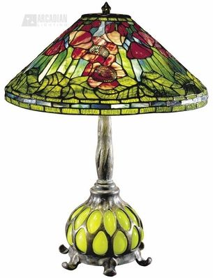 Red Poppy Tiffany Table Lamp Tiffany Table Lamps Stained Glass