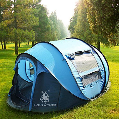 Gazelle Outdoors Large Instant Tent - 4 Person Pop Up C&ing Hiking Tent *** & Gazelle Outdoors Large Instant Tent - 4 Person Pop Up Camping ...