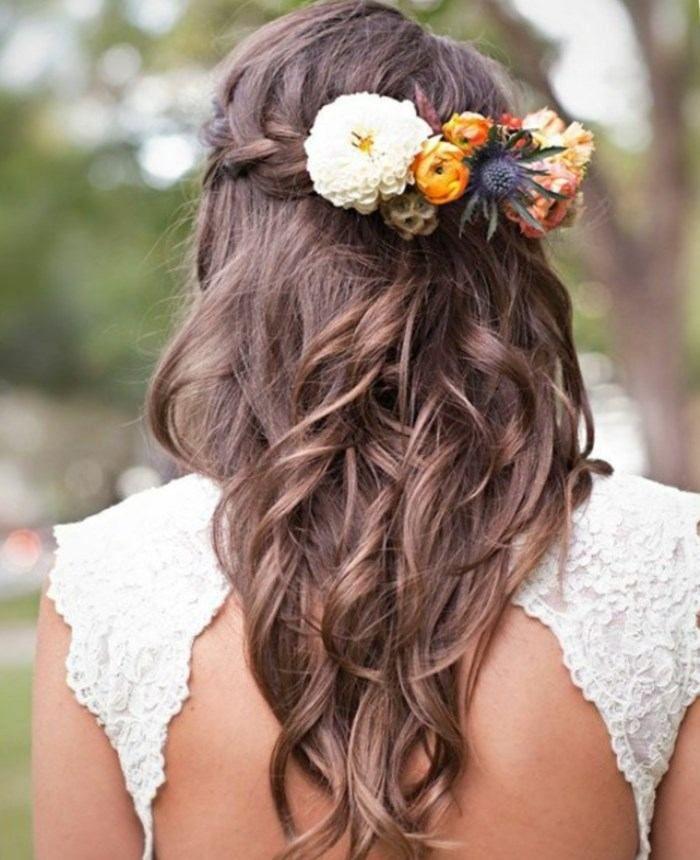 Brautfrisuren romantische hochsteckfrisur  Hochsteckfrisuren für lange und mittellange Haare. Romantische ...