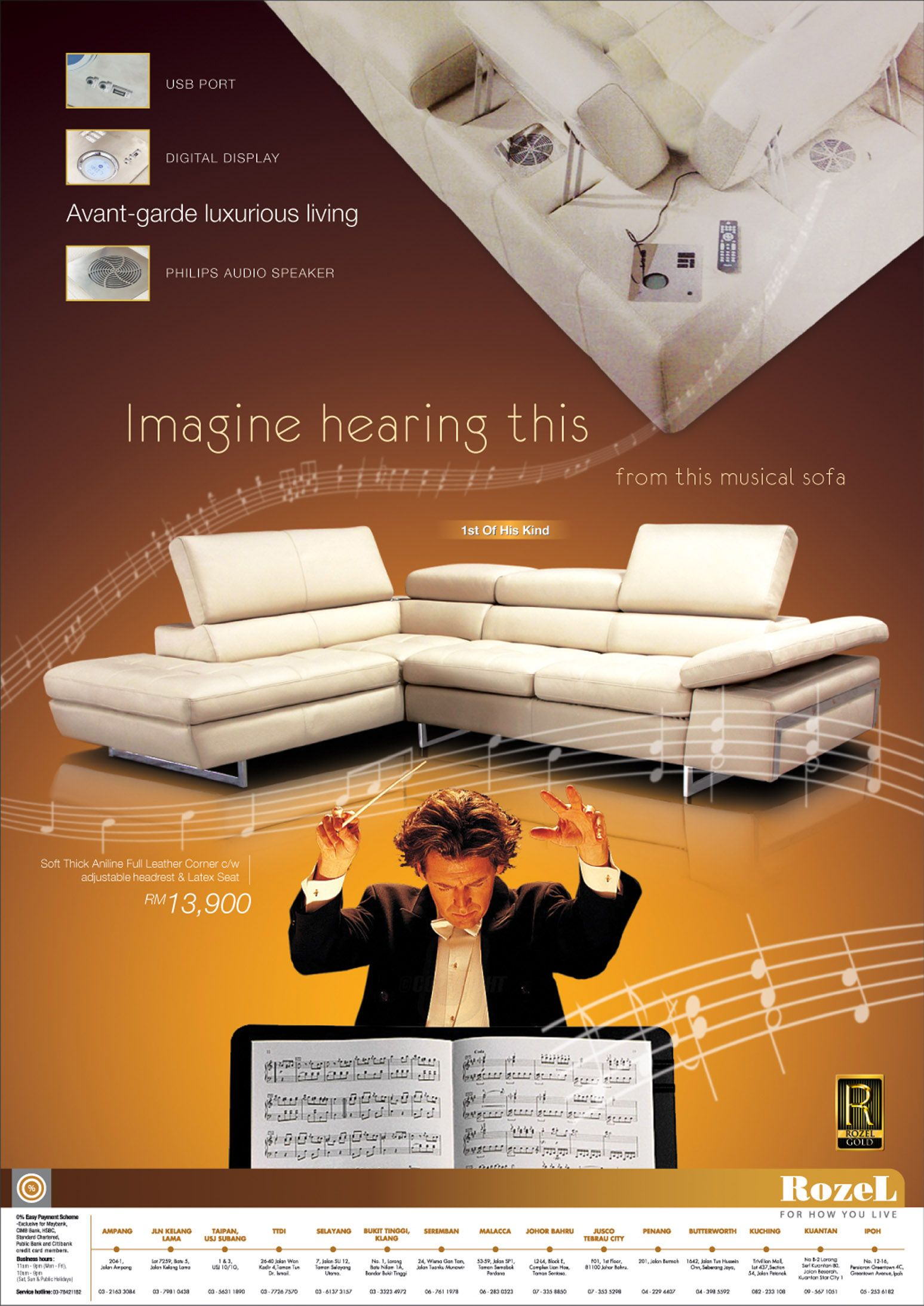 [Visual: Print Ad: Furniture: The Music Sofa An Concept Visual For A New  Product Launching Print Ad. U0027The Conductoru0027 And U0027music Standu0027 Images Are  From Some ...