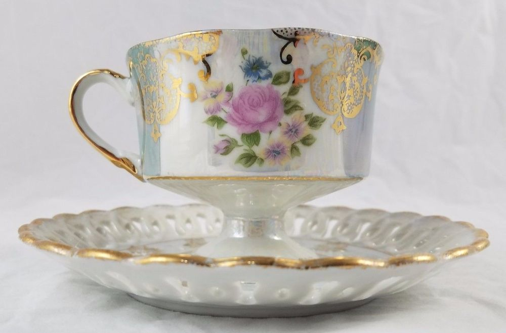 Vintage Tilso Tea Cup And Saucer Floral Teacup Japan Gold Trim Bone China Tea Cups Tea Cups Vintage Antique Tea