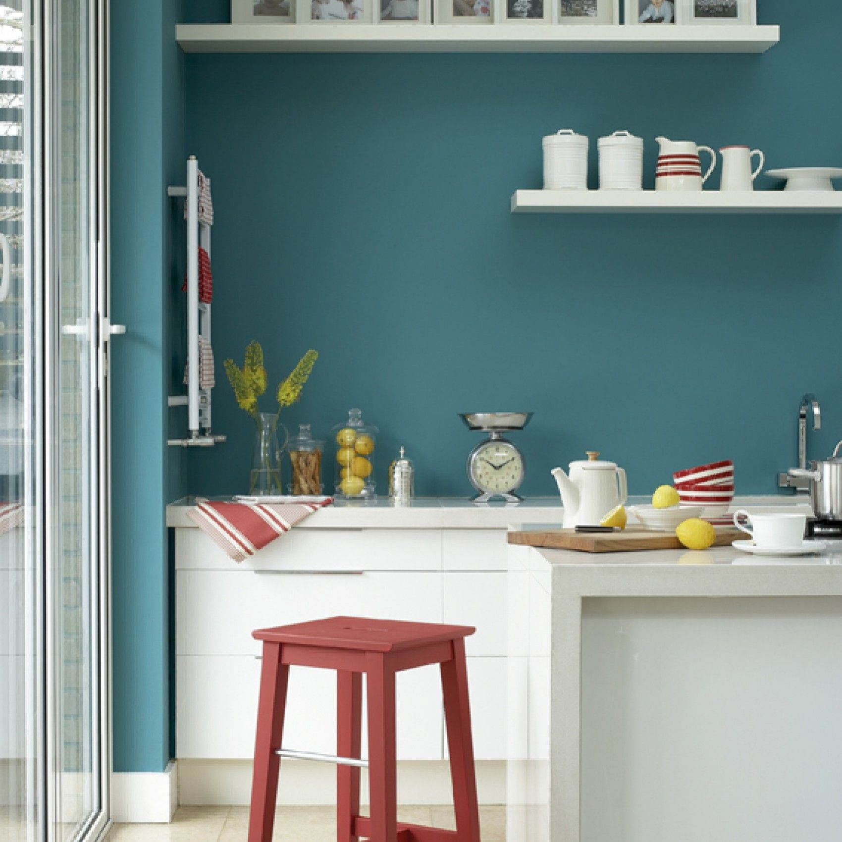 Cucina Verde Acqua Canton Green Paint Little Greene Bludiprussia Roma