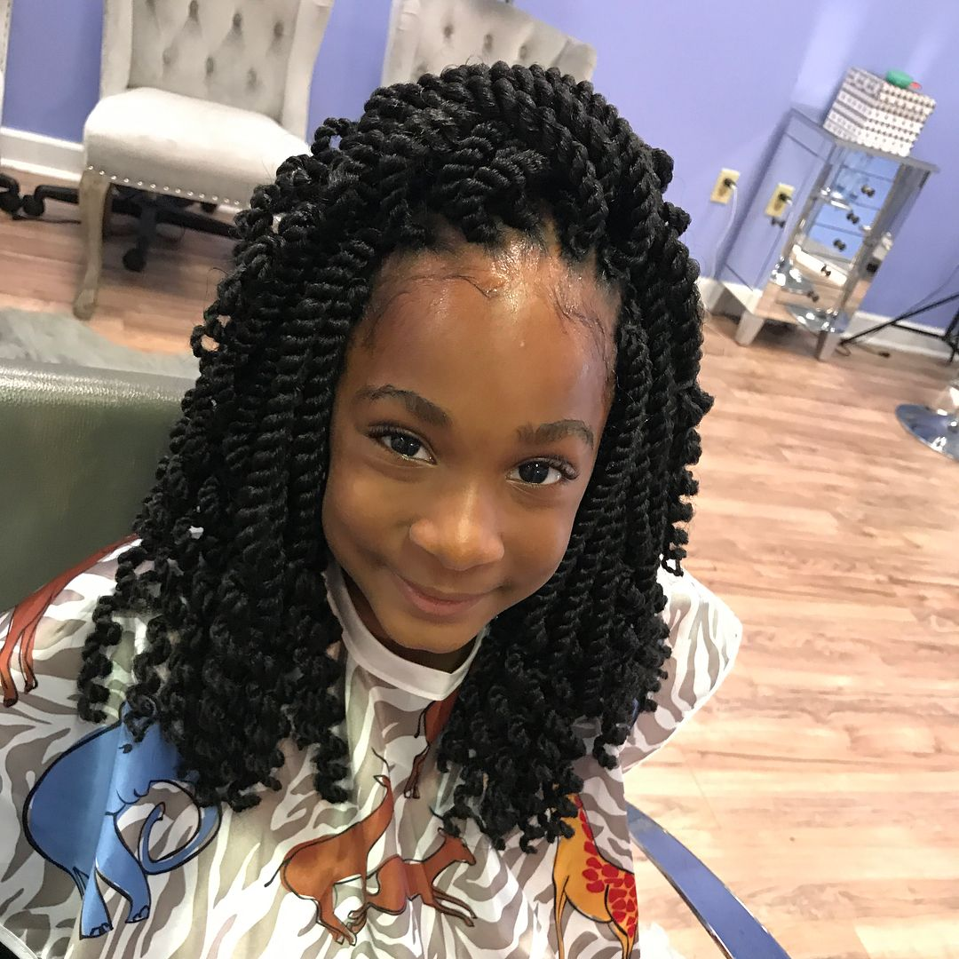 Double side haircut for boys crochet twist   hour install hair is pre curled prior to