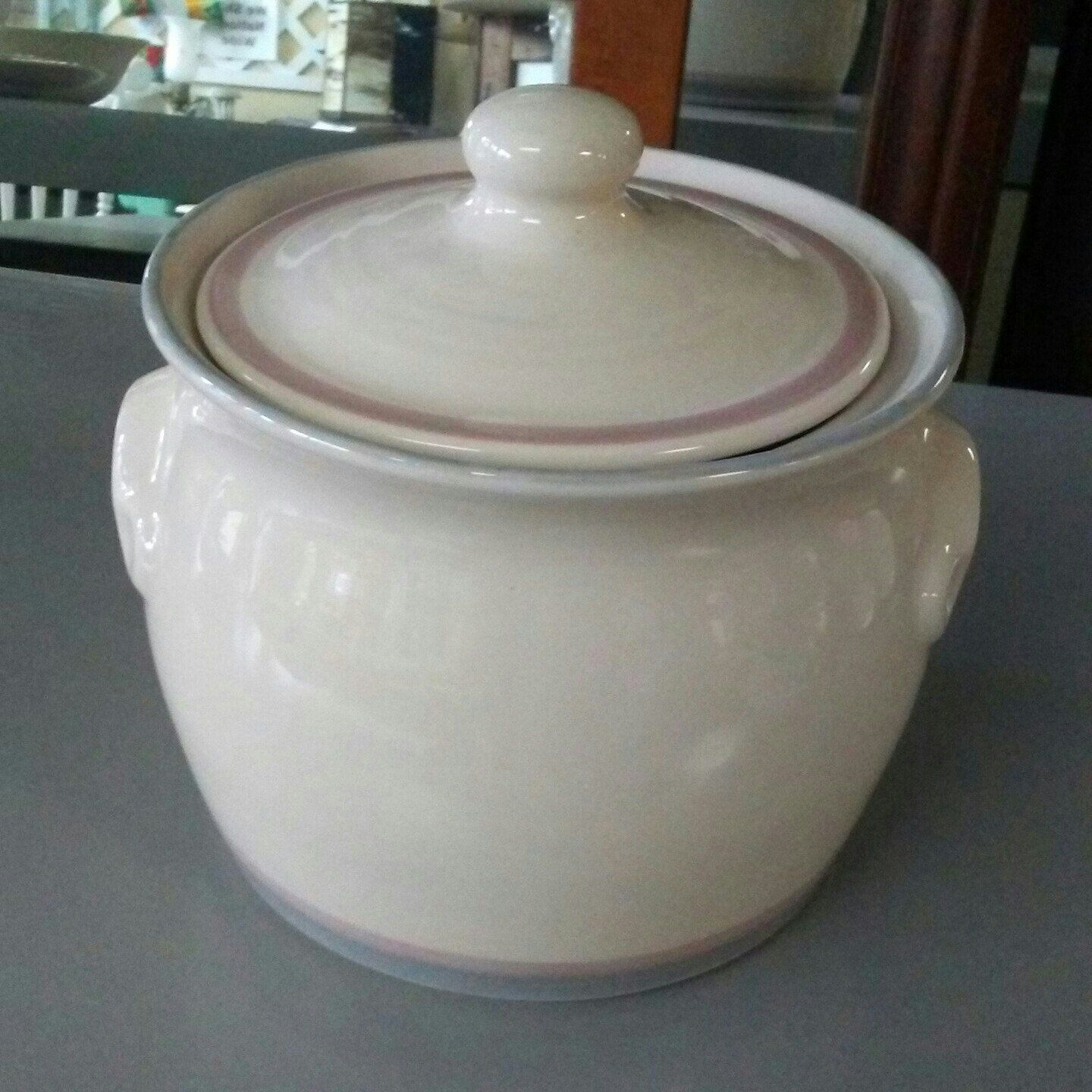 Pfaltzgraff cookie jar for sale in our Etsy shop. Get your farmhouse style on.