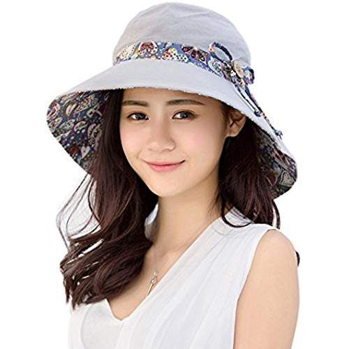 Sunroyal Tela Algodón Plegable Mujer Sol Sombrero Retro Hat Lovely Sun Hat para  Mujer Llama Protección d7af98bb4c5
