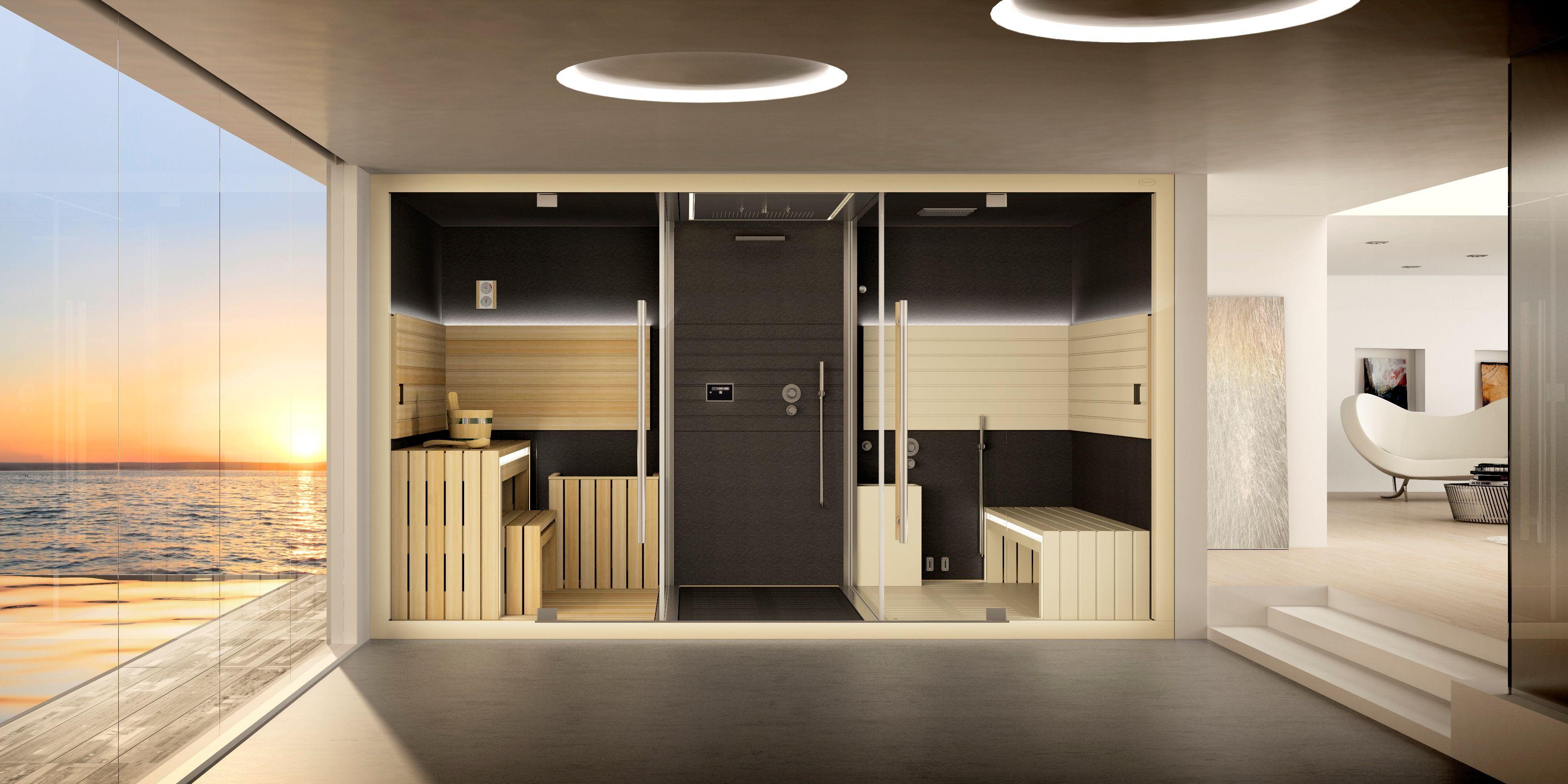 Cabine Douche Thalasso pour sauna-hammam-douche, sasha de jacuzzi® un véritable centre wellness