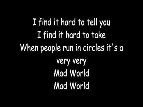 Gary Jules Mad World Instrumental With Lyrics Youtube Musique