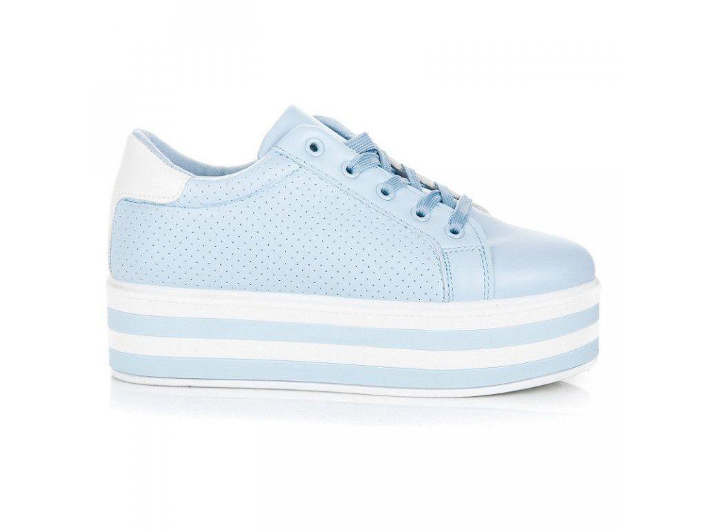 d49bc2e53c Modré tenisky na platforme Seastar
