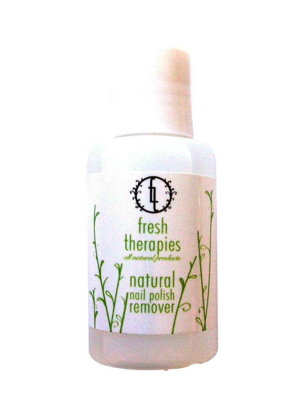 Fresh Therapies Natural Nail Polish Remover, #Vegan, Acetone Free ...