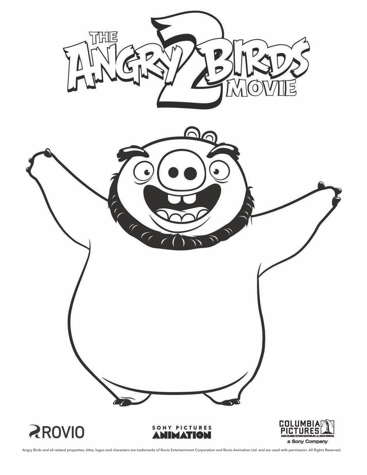 The Angry Birds Movie 2 Leonard Coloring Page Bird Coloring Pages Coloring Books Angry Birds
