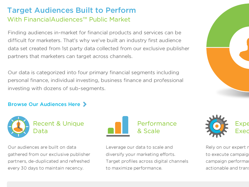 New web work for Financial Audiences by Erick