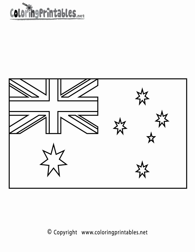 Australia Flag Coloring Page Inspirational Australia Flag Coloring Page Printable Geography In 2020 Flag Coloring Pages Australia Flag Australian Flags