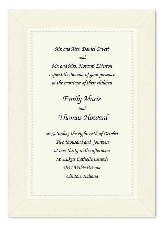 Traditional Pearls Wedding Invitations