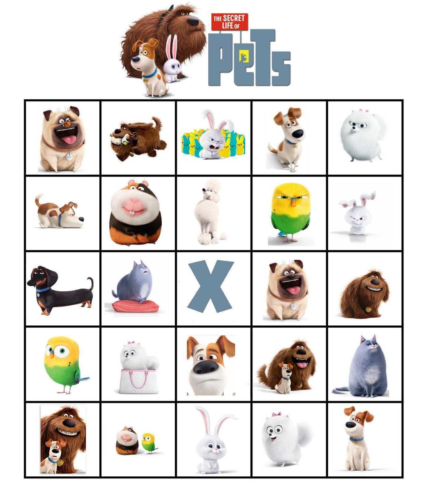 It is a photo of Sly Secret Life of Pets Printables