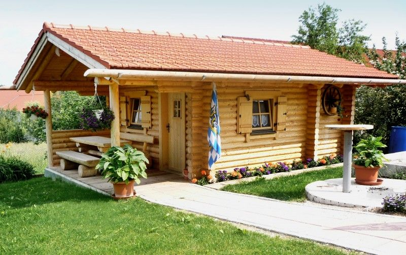 Gartenhaus P12 11 Cm Rundstamme Gartenhaus Blockhaus Gartenhaus Haus