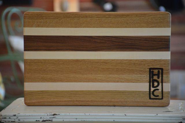 Hdc Striped Cutting Board Harp Design Co Gift Ideas Harp