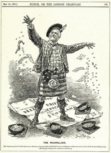 This Is A Cartoon Of Andrew Carnegie As The Macmillion Wearing A