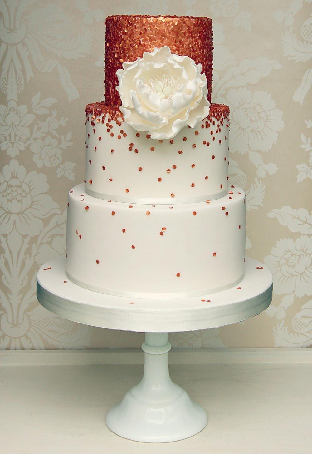15 breathtakingly beautiful rose gold wedding cakes fall