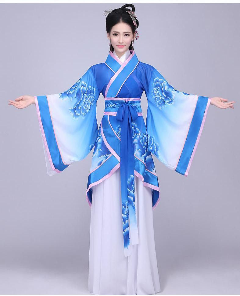Anime Traditional Chinese Han Clothing Women Cosplay Party Costume