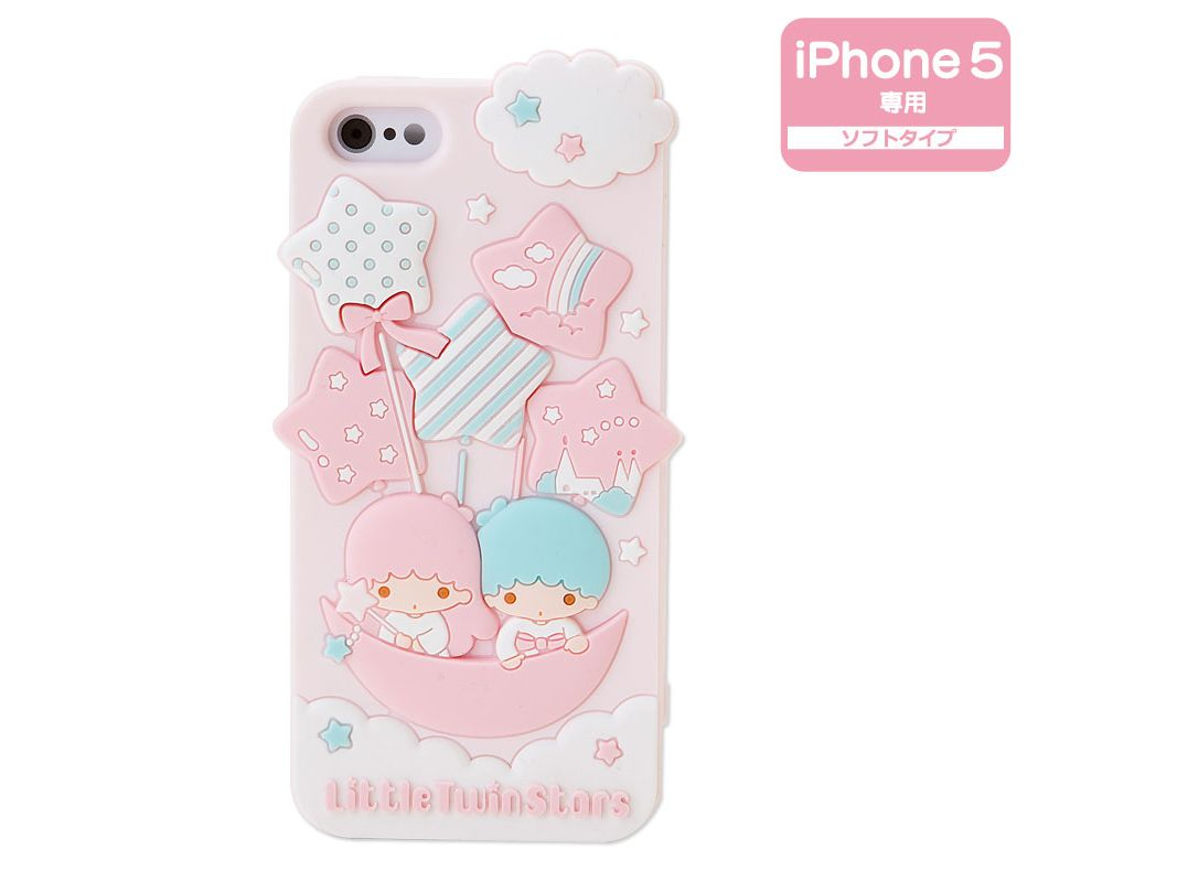 Little Twin Stars Kiki Lala iPhone 5 Silicone Cover Case Soft Type ...