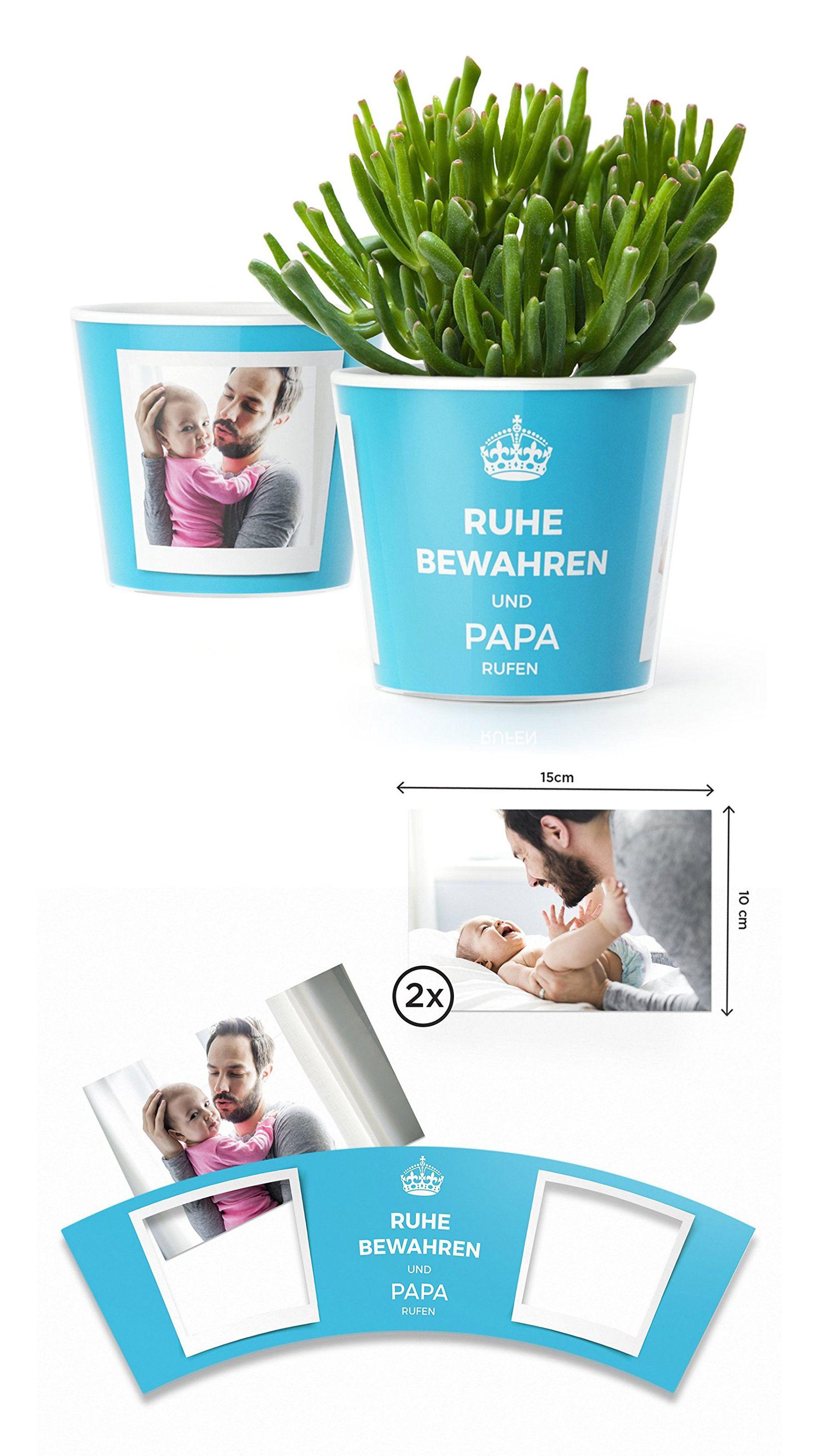 Ruhe bewahren und Papa rufen Blumentopf (ø16cm)   Vatertag Geschenk ...