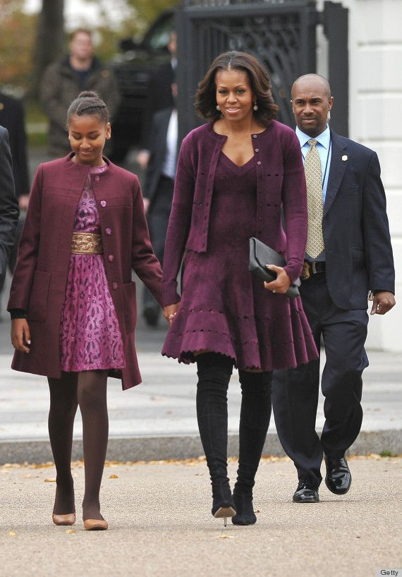 Michelle & Sasha Obama