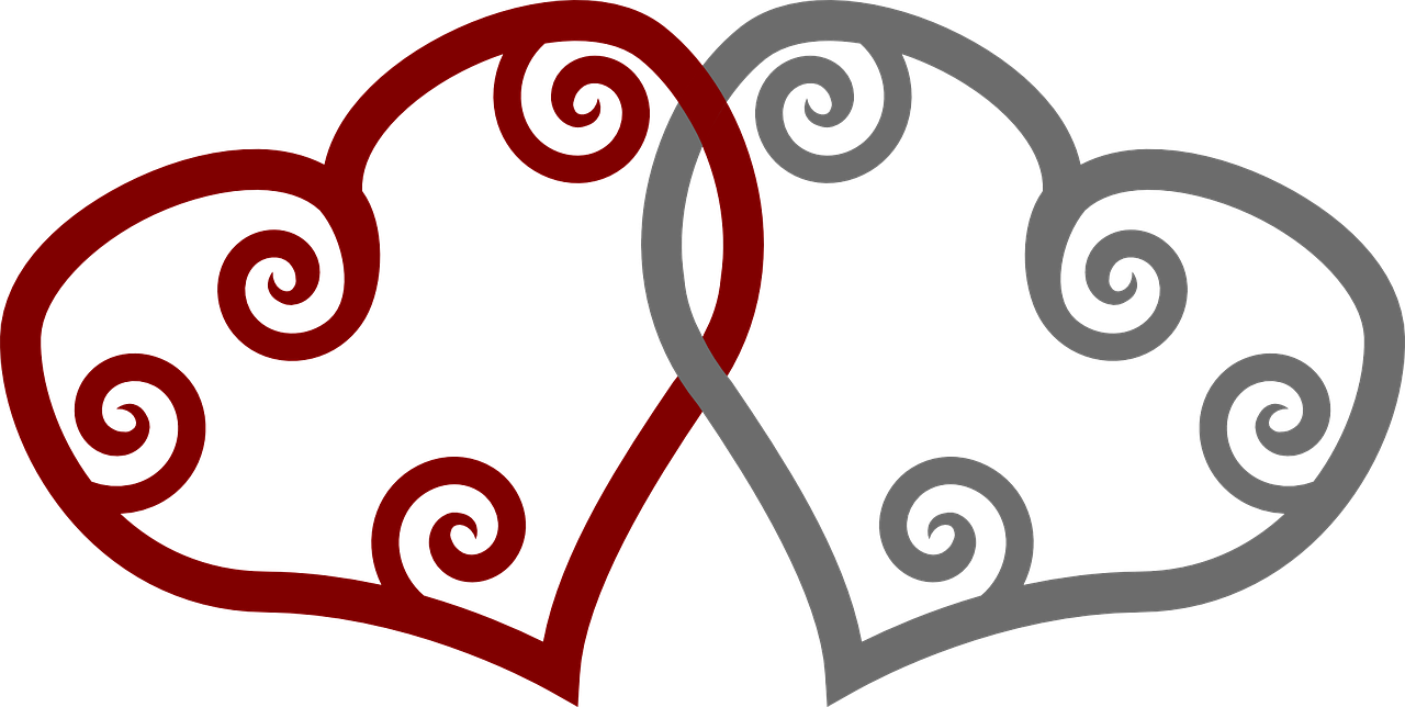 Wedding Two Hearts Shapes Red Grey Intersection In Wedding Two Hearts Shapes Red Grey Intersection In Clip Art Viking Symbols Free Clip Art