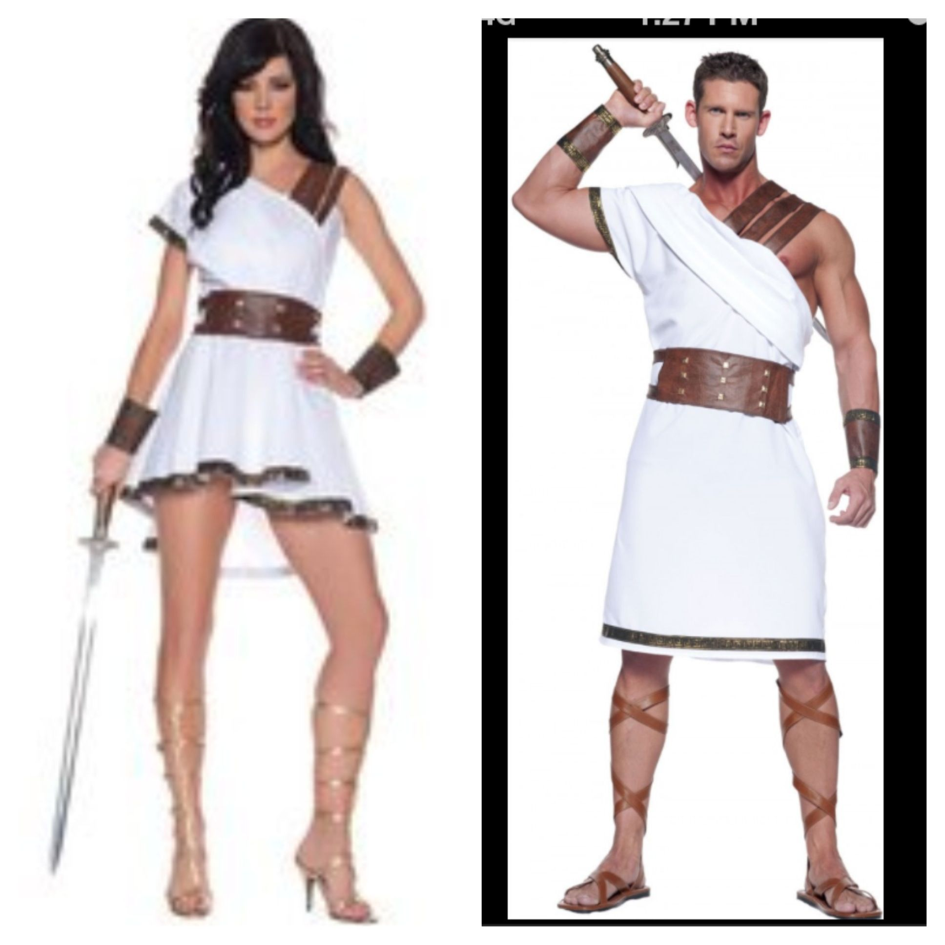 Greek/roman couples costumes  sc 1 st  Pinterest & Greek/roman couples costumes | Halloween Costumes | Pinterest ...