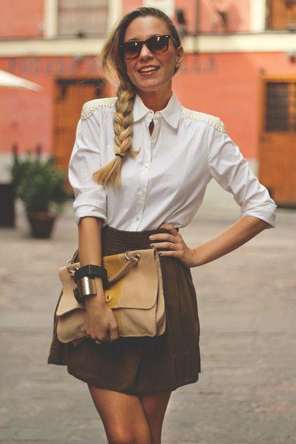 blusa + hombros perlas