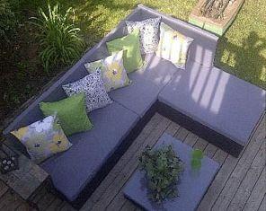 Anweisungen und 3D-Pläne, wie man ein Sofa für den Garten ...