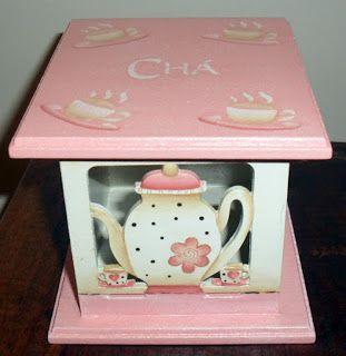Eliane Artesanato: Caixa de chá