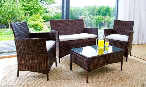 4 Piece Rattan Garden Furniture Set   @ Ijinteriors On EBay   £109.90  Delivered