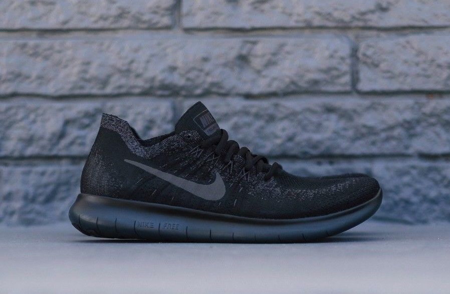 1f9fb27ce54 Nike Free RN Flyknit 2017 Black Anthracite 880843-010 Men s Running Shoes  NEW! Flyknit Black Nike