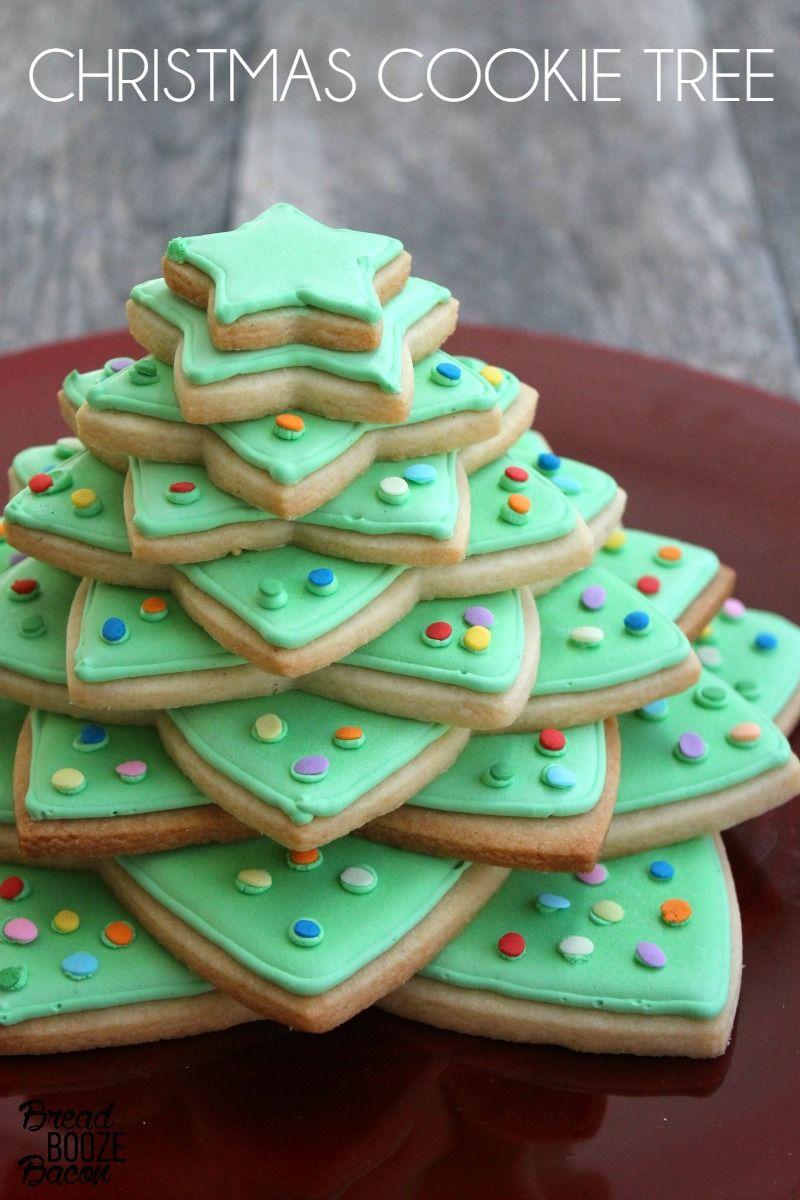 Christmas Cookie Tree Christmas Cookies Christmas Buffet Easy