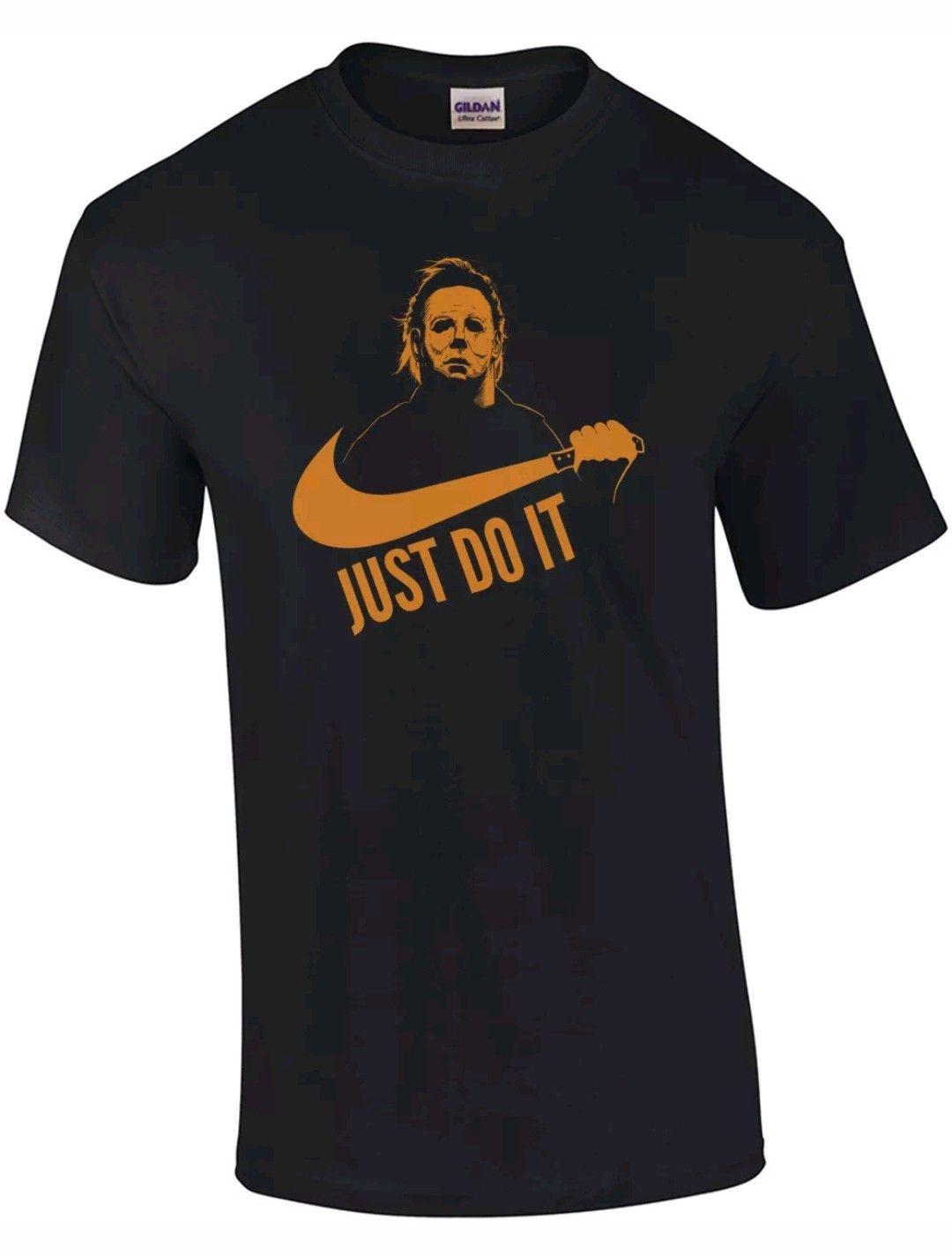 5f3fb19d Mike Myers Halloween Tee Shirt Just Do It Nike Swoosh Freddy Cougar Friday  the 13th Jason Scary