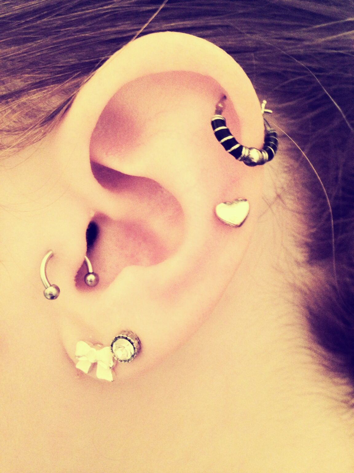 Body piercing map  New Piercing  Tragus  Love  clothes and hair things  Pinterest